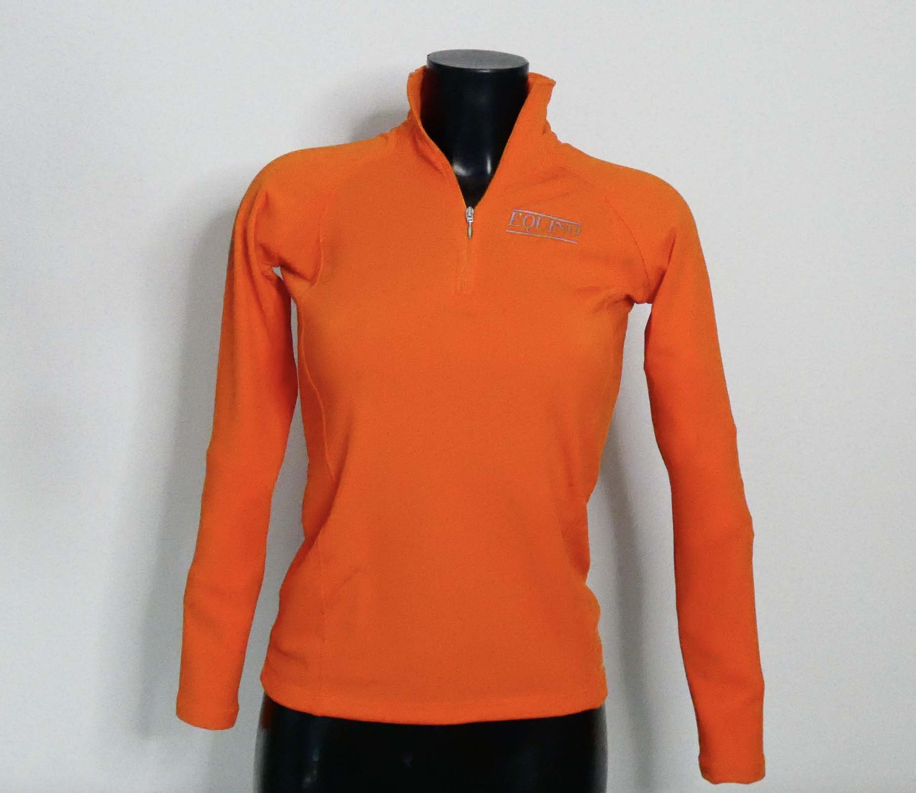 Fitted Long Sleeve Top - Orange
