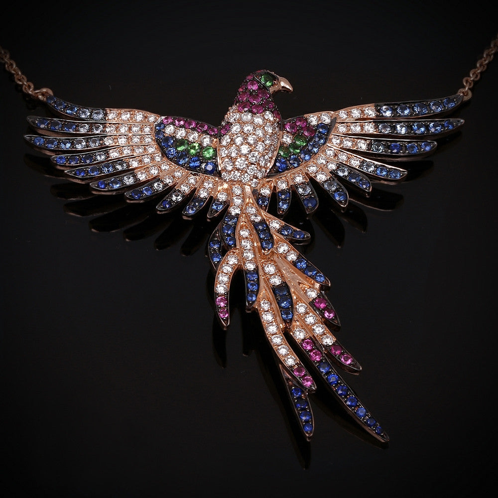 Phoenix necklace, limited edition