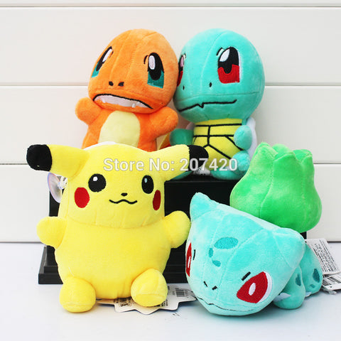 Pikachu Bulbasaur Squirtle Charmander Soft Stuffed