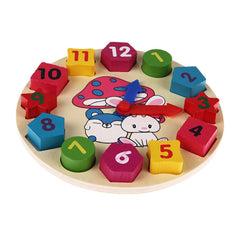 12 Number Colorful Puzzle Digital Geometry Clock