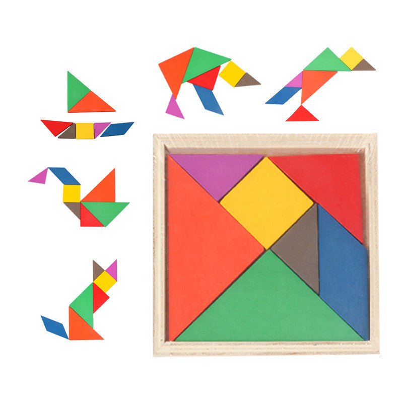 Tangram Wooden Jigsaw Puzzle Toys For Kids