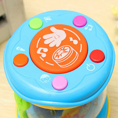 Hand Drum LED Music Educational Baby Rattles