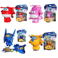 8pcs /Set Super Wings Mini Airplane Robot
