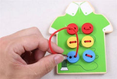 Toddler Sew On Buttons Early Education Teaching Aids