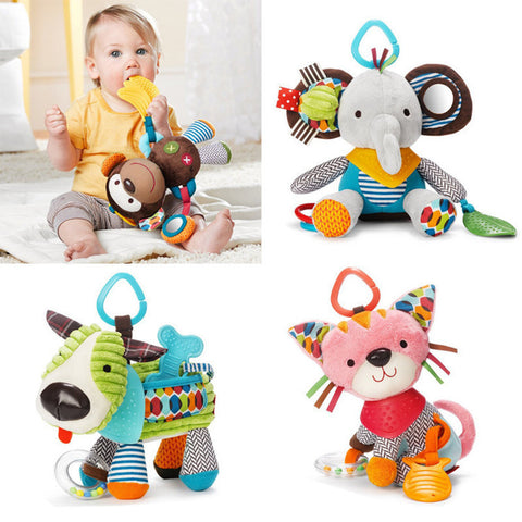 17CM Infant Wind Chimes Rattles Bed Bell And Teether