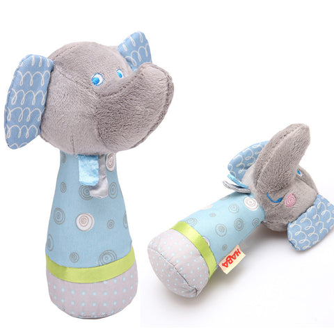 Animal Hand Bells Plush Baby Toy