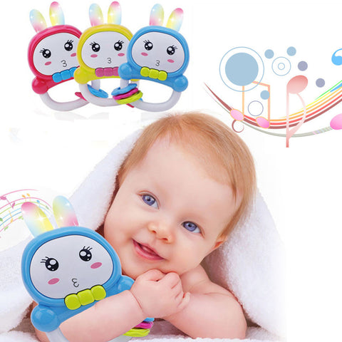 Baby Rattles Rabbit Ears Educational Music Toys