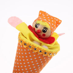 Retractable Smiling Clown Hide & Seek Funny Toy