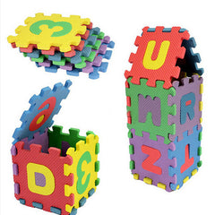 36pcs Mini Puzzle Kid  Alphabet Letters Numeral Foam