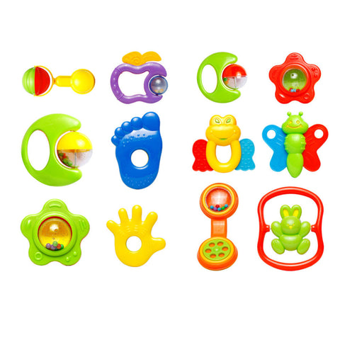 Toddler Music Toy Plastic Hand Jingle Shaking Bell