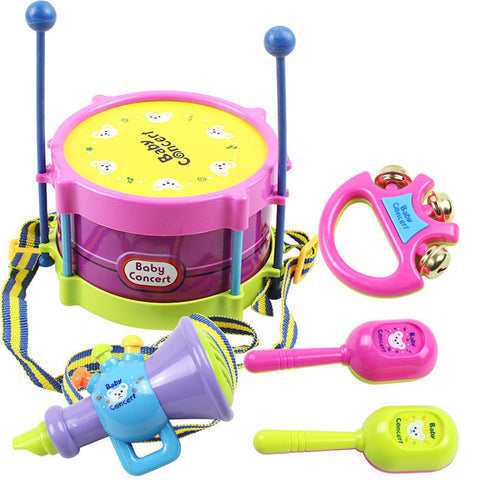 5 pcs/Set Hand Drum Beat Rattles Educational Kids Toys