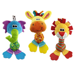 22cm Soft Hand Bell With Teether Animal Model