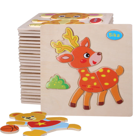 Animals Shapes Jigsaw Wooden Toys