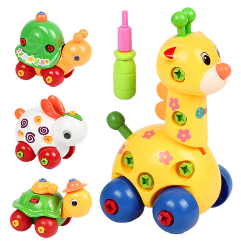 Disassembly/Assembly Giraffe Snail Tortoise Rabbit