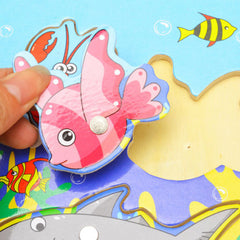 Magnetic Fishing Game & Jigsaw Puzzle Board