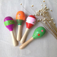 Wooden Ball Sand Hammer Rattle Learning Musical
