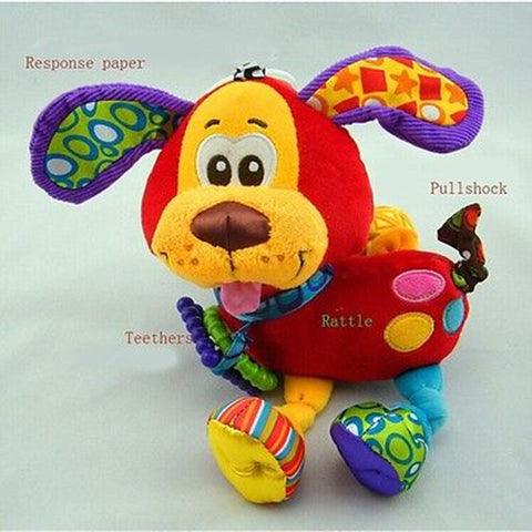 Hanging Toy Dog Plush Vibration Rattle
