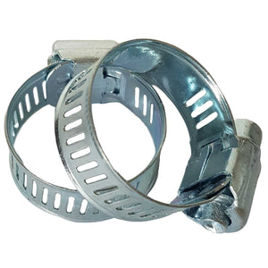 Stainless Steel Hose Clamps 19-28mm 2pk
