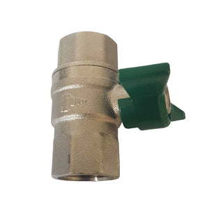 "Brass Ball Valve 1/2"" F-F (15mm)"