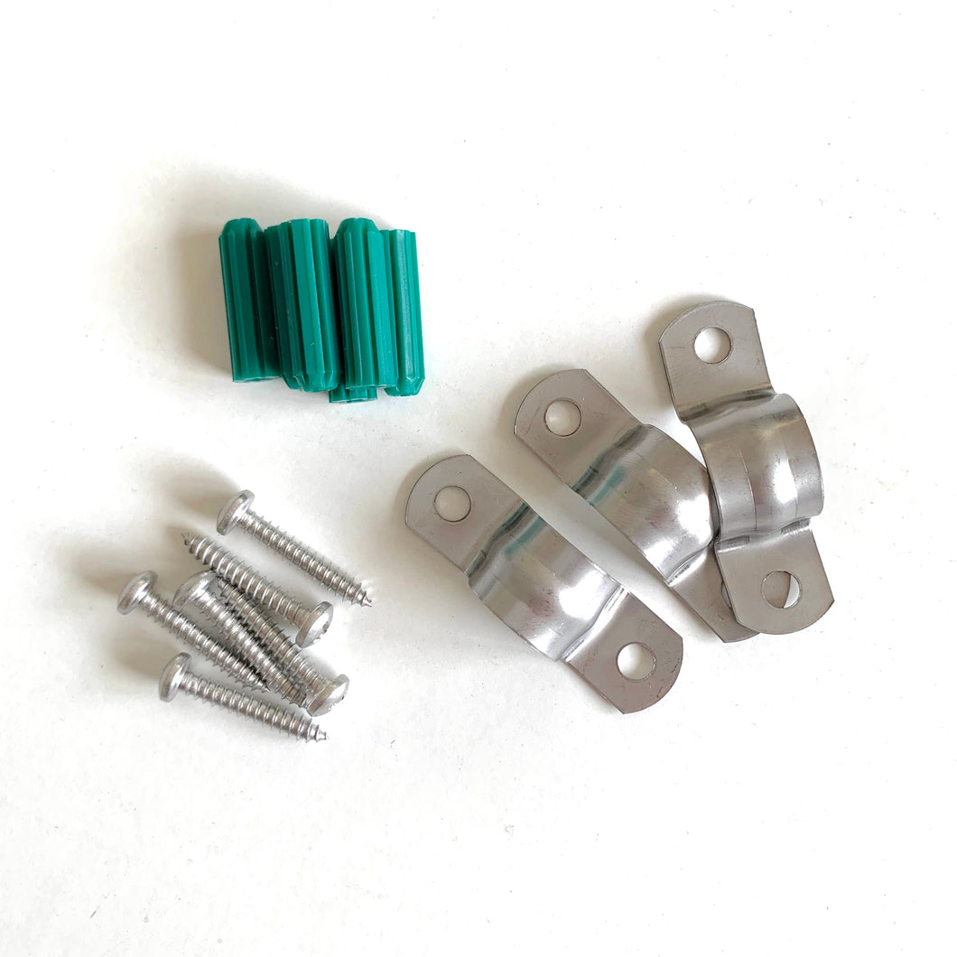 12mm Stainless Steel Saddle Clips 3pk