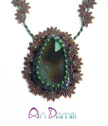 Moss Boho necklace by AnDamir