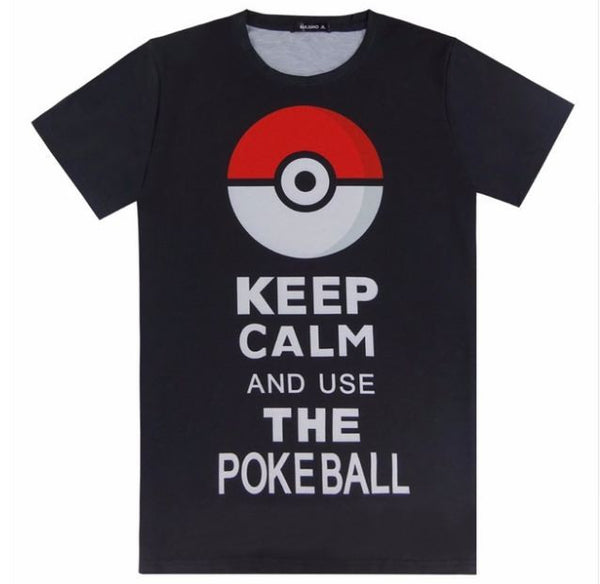 Men 3D Pokemon Go T Shirt - MY-POKEMON4FREE.COM
