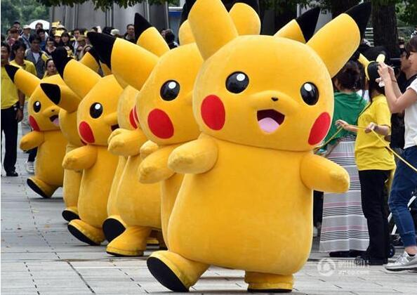 Fancy Pikachu Mascot Costume