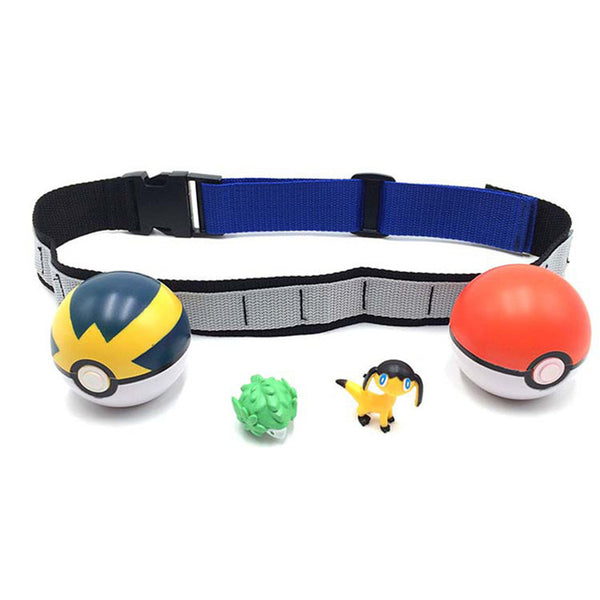 Pokeball Belt+ 2 Pokeballs + 2 pokemon