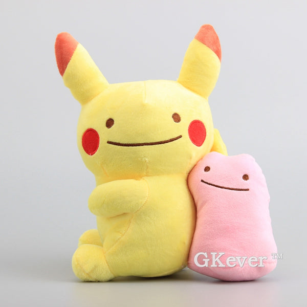 "High Quality Pikachu With Ditto Plush Toy Dolls Kawaii Pikachu Soft Stuffed Dolls 11"" 27 CM Kids Gift"