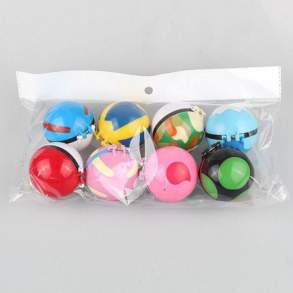 Set of 16 Pokeballs + 16 Figures Inside