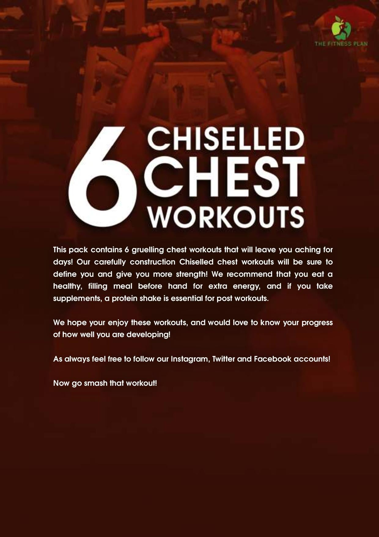 6 Chiselled Chest Workouts
