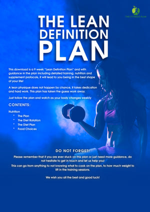 The Lean Definition Plan