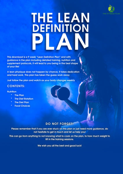 The Lean Definition Plan - Booklet