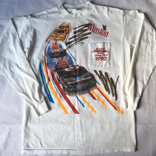 Winston Nascar Vintage long sleeve Pocket tee