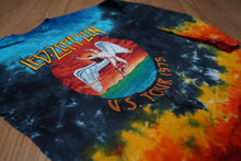 Led Zeppelin us tour 1975 tie dye long sleeve shirt