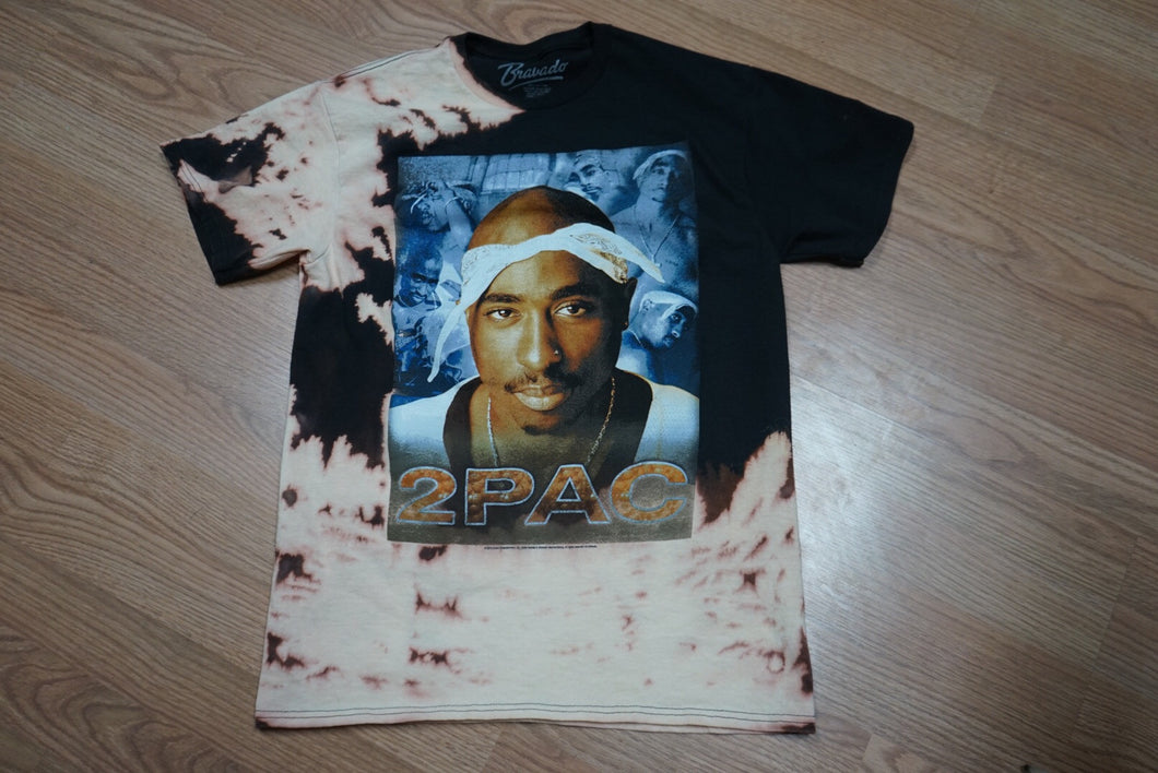 2pac Distressed tee