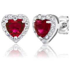 2.32 Ct Ruby Red Hearts $20.17 - God Degree Clothing And Accessories™® - GD's™®