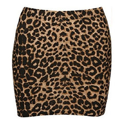 Leopard Print Elasticated Bodycon Short Skirt $14.01 - God Degree Clothing And Accessories™® - GD's™®