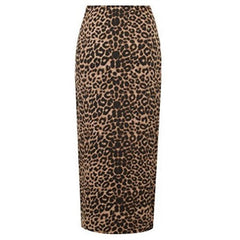 Leopard Print Elasticated Bodycon Long Skirt (Available Plus Sizes) $20.17 & Up - God Degree Clothing And Accessories™® - GD's™®