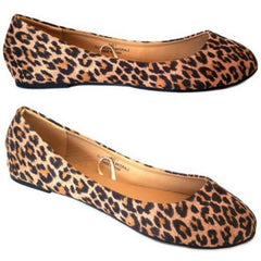 Leopard Print Suede Flats $20.17 - God Degree Clothing And Accessories™® - GD's™®