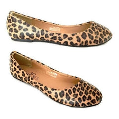 Leopard Print Leather Flats $20.17 - God Degree Clothing And Accessories™® - GD's™®
