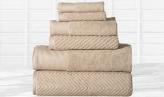 Elegance Spa 100% Egyptian Cotton Jacquard Towel Set (6-Piece) $49.99 - God Degree Clothing And Accessories