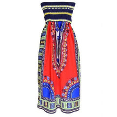 Elegant Strapless Tribal Mid Dress $24.01 - God Degree Clothing And Accessories™® - GD's™®