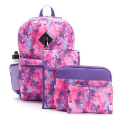 Backpack & Accessories 6-piece Set (Pink Galaxy) - Kwikibuy Amazon