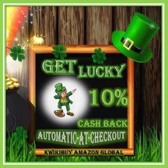 🍀 Shenanigans®  - Kwikibuy Amazon Global Get Lucky 10% Cashback Automatic at checkout (Click)