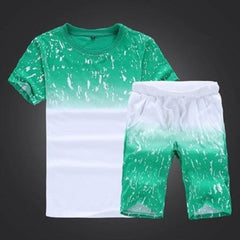 Short Sets In Gradient Color Green & White $20.17 - Kwikibuy™®