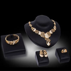 Fashion Jewelry Gorgeous Hollow Out Rectangle Necklace, Bracelet, Ring, and Earrings Sets $39.01 - God Degree Clothing And Accessories™® - GD's™®