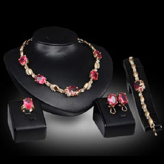 Fashion Jewelry Noble Oval Necklace, Bracelet, Ring, and Earrings Sets $39.01 - God Degree Clothing And Accessories™® - GD's™®