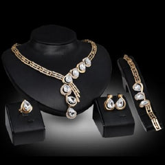 Fashion Jewelry Noble Water Drop Necklace, Bracelet, Ring, and Earrings Sets $39.01 - God Degree Clothing And Accessories™® - GD's™®