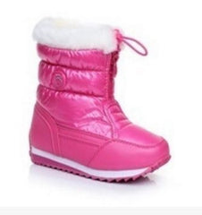 Kids Plush Hand Stitching Cotton Winter Boots